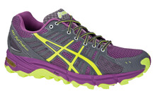 Asics Women's Gel Fujitrabuco W neon purple/yellow/charcoal